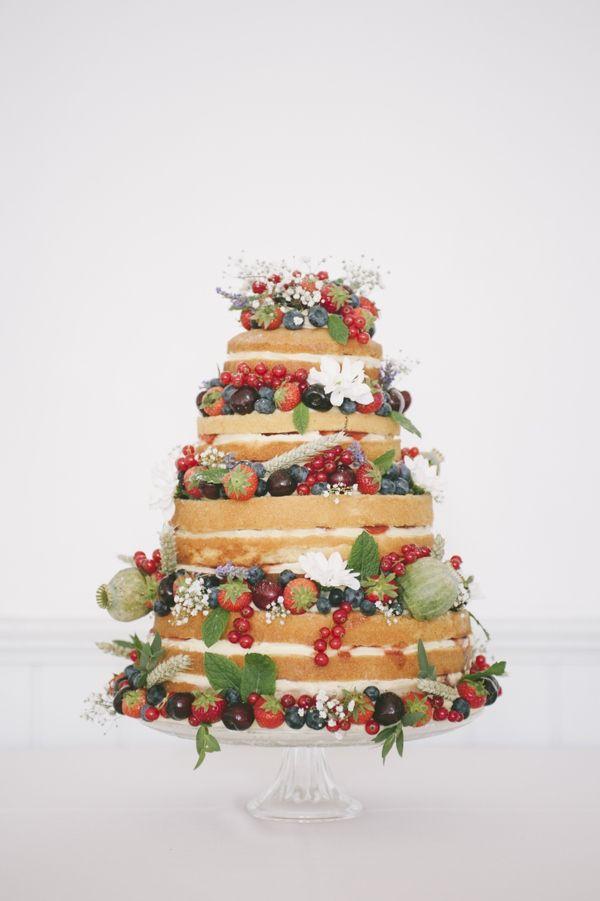 Naked Fruit Wedding Cake Fun Quirky 1950s Wedding http://www.petecranston.com/