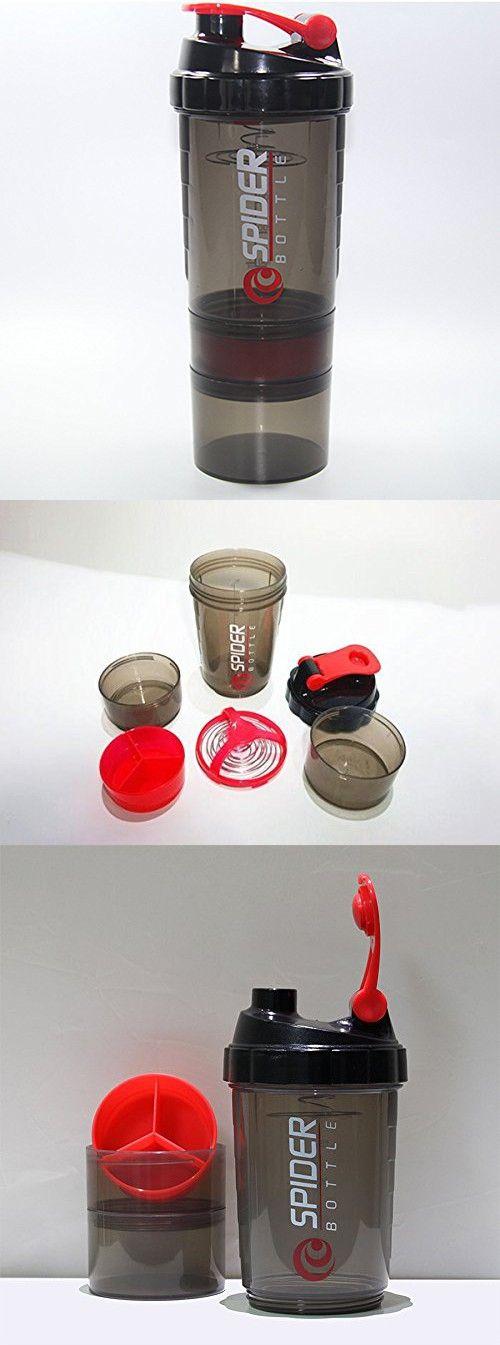 Sports Fitness Gym 3 Layers Multifunction Milkshake Protein Shaker Blender Mixer Cup 600ml BPA Free Shaker Bottle.