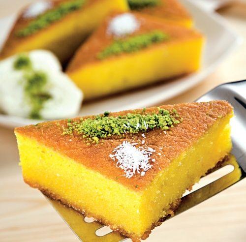 Revani, prăjitură însiropată din griş | Retete culinare - Romanesti si din Bucataria internationala