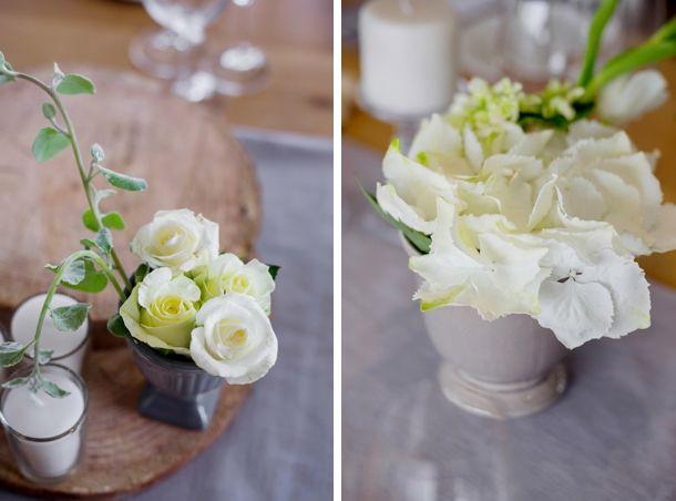 wedding flowers. wood. white