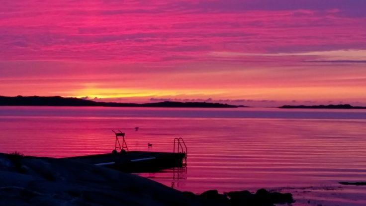 Swedish archipelago, Sillvik outside Gothenburg. Summer 2015. #sunset #Göteborg #Gothenburg #sillvik #archipelago #sweden #sverige #solnedgång