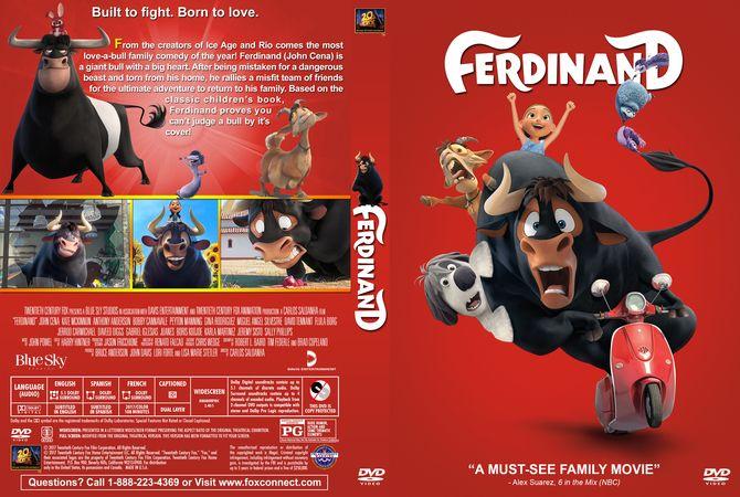 Ferdinand Dvd Custom Cover Dvd Cover Design Custom Dvd Dvd Covers