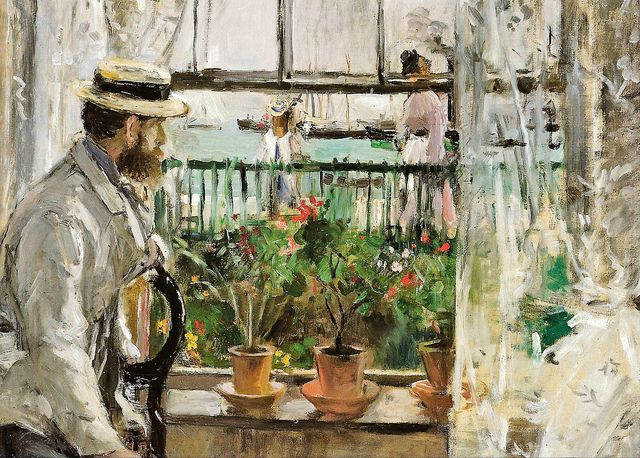 Berthe Morisot - Eugene Manet on Isle of Wight, 1875