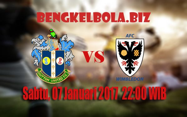 Prediksi Sutton United vs AFC Wimbledon 07 Januari 2017