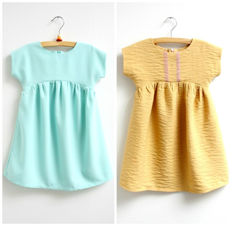 gratis patroon 'izzy to'p bij craftsy.com, verlengd tot jurk - by Mix it - Make it