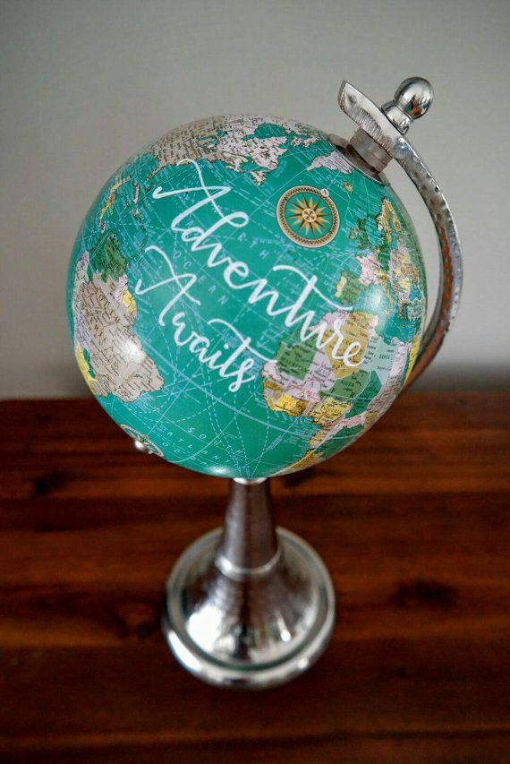 Painted Globe / Painted Globes / Custom by WolfAndWanderDesign