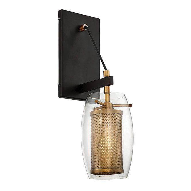 Industrial Modern Screen Sconce 1 Light In 2020 Contemporary Wall Sconces Sconces Wall Sconce Lighting