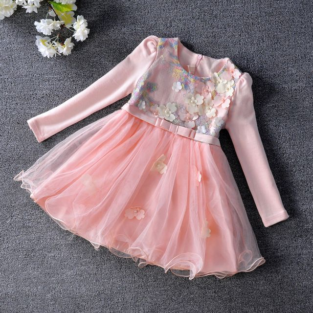 Promotion price 2017 Spring Style Lace Sleeves Tulle Tutu Girl Dress Baby Toddler Party Dress for Girls Clothes 3-9Y pink yellow just only $14.49 - 15.87 with free shipping worldwide  #girlsclothing Plese click on picture to see our special price for you