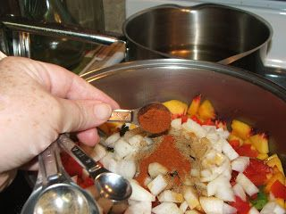 Canning Granny: Canning Peach Salsa try with nectarines instead of peaches.