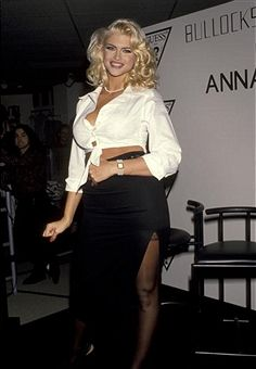 Anna Nicole Smith during Anna Nicole Smith's Special Appearance For Guess? Sportwear at Bullock's Store at Beverly Center in Beverly Hills, California, United States.
