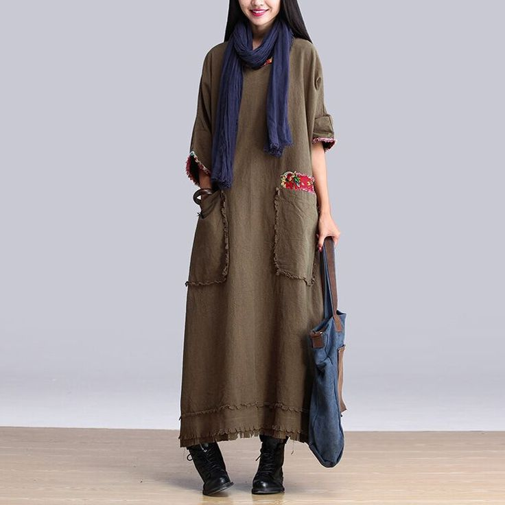 Vestido Vintage de manga larga de otoño, mujeres fluido primavera de una sola pieza sacó un completo en Vestidos de Moda y Complementos Mujer en AliExpress.com | Alibaba Group