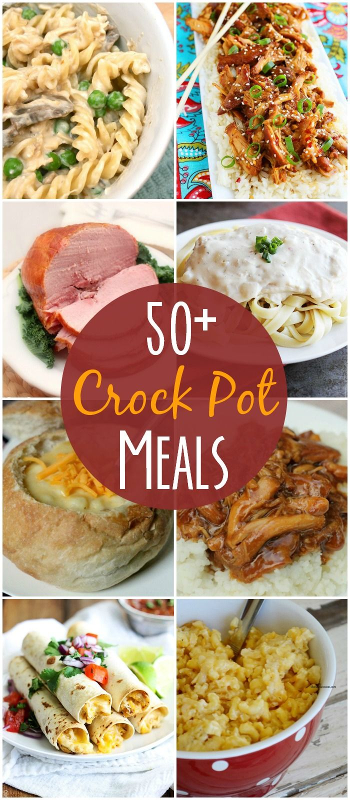 50+ recipes all made in the crock pot