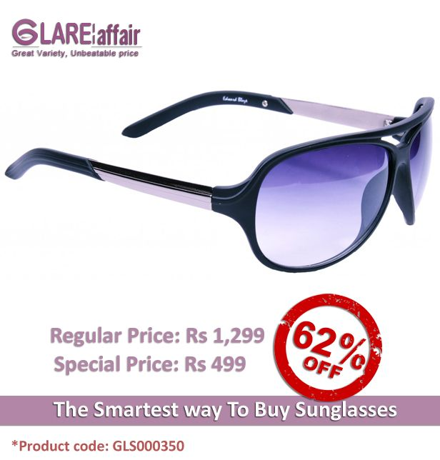 EDWARD BLAZE EB- 9805 MATT BLACK AVIATOR SUNGLASSES  http://www.glareaffair.com/sunglasses/edward-blaze-eb-9805-matt-black-aviator-sunglasses.html  Brand : Edward Blaze  Regular Price: Rs1,299 Special Price: Rs499  Discount : Rs800 (62%)