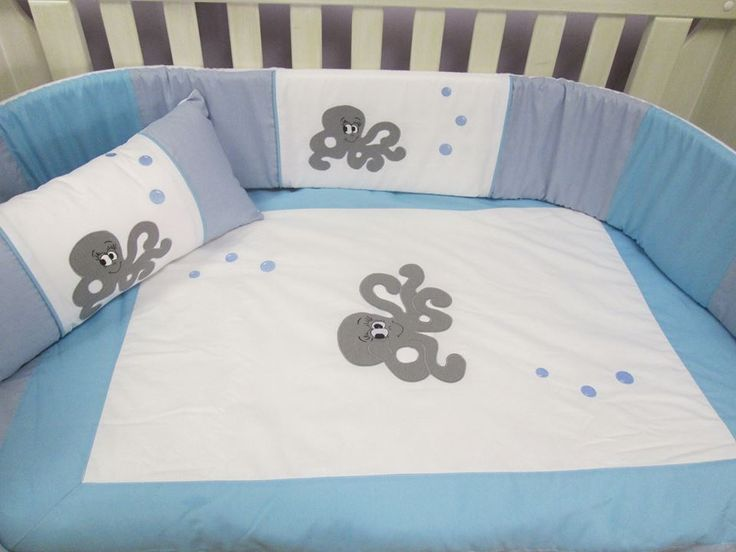 Under the sea bale set includes: 100% cotton fabric and easy breathe cot bumper inner. Quilt Cot bumper Mini scatter cushion Fitted sheet (to fit large cot) Baby change mattress 2 Baby change matt covers Inners