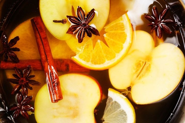 Stove-top Scent: Cinnamon Apple  2-3 cups water in a medium saucepan. Add 2 sliced apples, 3 cinnamon sticks, 1 lemon rind or zest, 1 tsp vanilla extract & 3 whole cloves. Bring to boil then reduce to simmer, adding more water if necessary.