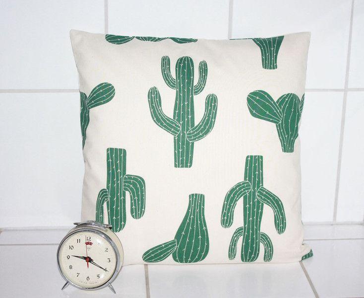Kissenbezüge - Kissenbezug 40x40 Kaktus Wohndeko Frühling Kissen - ein Designerstück von Handmade-Erzgebirge bei DaWanda