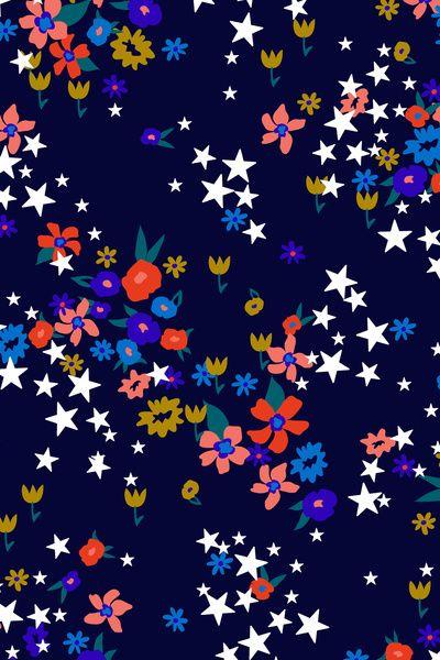 Star Floral Art Print by Aaryn West