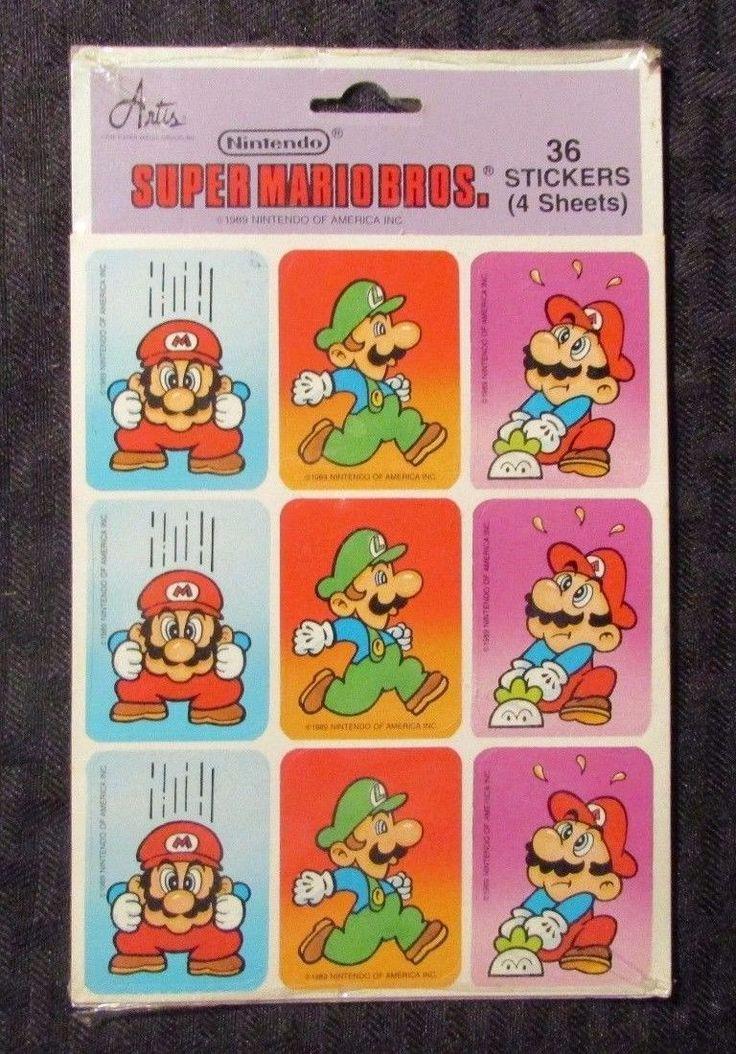 Does anyone else remember these old Nintendo stickers? #nintendo #nes #stickers #supermario #mario #luigio #game