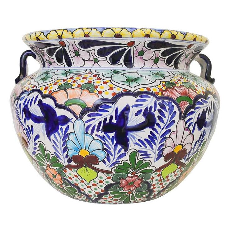 Ceramic Planters For Sale Part - 47: These Delightful Talavera Planters Embody All The Charm Of Mexican  Talavera. Featuring Intricate Floral Patterns And Classic, Multi-colored  Designs, ...