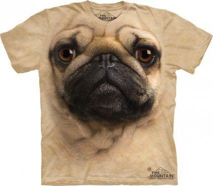 Pug Face - Tshirt z mopsem, koszulki z nadrukiem psów - www.veoveo.pl