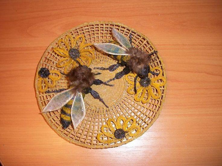 Панно-тарелка с пчёлками