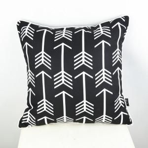 Arrow Black Cushion Cover