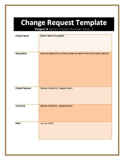 Change Request Formats