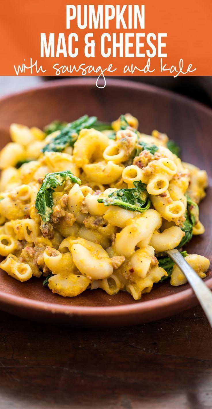 Pumpkin Sausage Mac and Cheese Recipe | Homemade Pumpkin Pasta | Creamy Macaroni | One Pot | Easy Fast Dinner Ideas | Butternut Squash