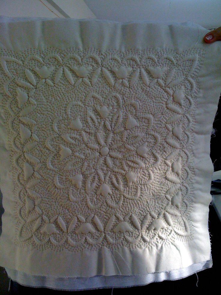 trapunto pillow
