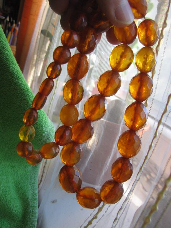 Genuine Natural Baltic amber  99 gr necklace cognac by ambergems93