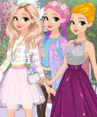 Rapunzel Fashionista On The Go: Rapunzel é uma fashionista e hoje ela tem muito eventos para participar. Por isso, ela conta com suas habilidades em moda para montar looks fabulosos. Ela tem três eventos diferentes, primeiro dia na aula de arte, uma festa de clube e o baile real. Divirta-se ajudando a bela princesa.
