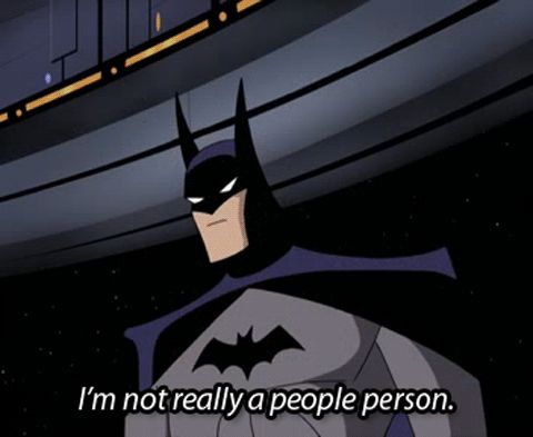 Image result for batman is introvert