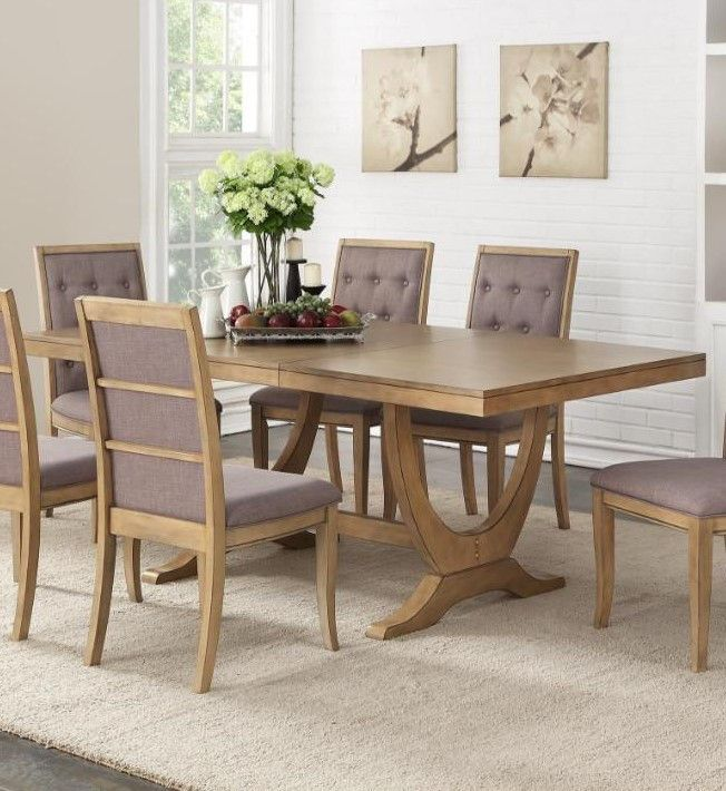 Poundex Dining Table F2449 267 00 Dining Table Natural Wood Dining Table Table