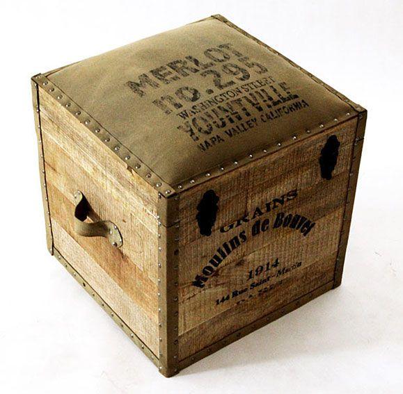 Muebles Portobellostreet.es:  Baúl Merlot  - Baúles Vintage - Muebles Vintage