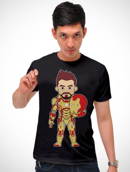 Iron Man t-shirt in black. Designed by Roepa Bentoek. http://www.zocko.com/z/JJ69h