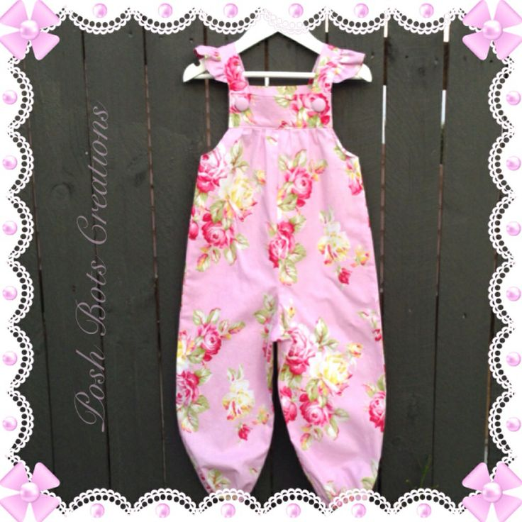 Little girls overalls, perfect in all seasons. Wear as is, or layer with a long sleeve tee. Available in sizes NB - 4 years #handmadeclothes #babyclothes #cutegirlsclothes #tanyawhelan