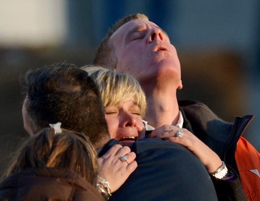 School Shooting at Sandy Hook Elementary in Newtown, Conn.  12/14/2012. 20 children were killed, 7 adults and the gunman.