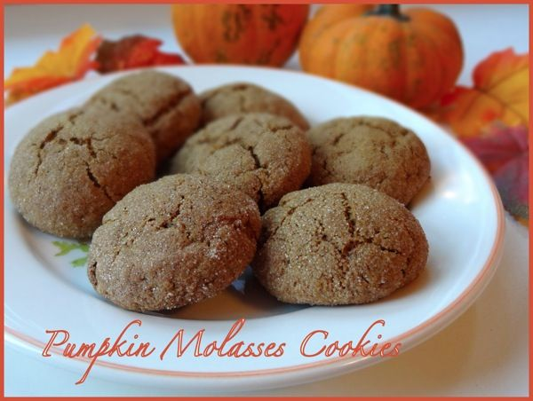 Pumpkin Molasses Cookies | Nutrition Nut Recipes | Pinterest