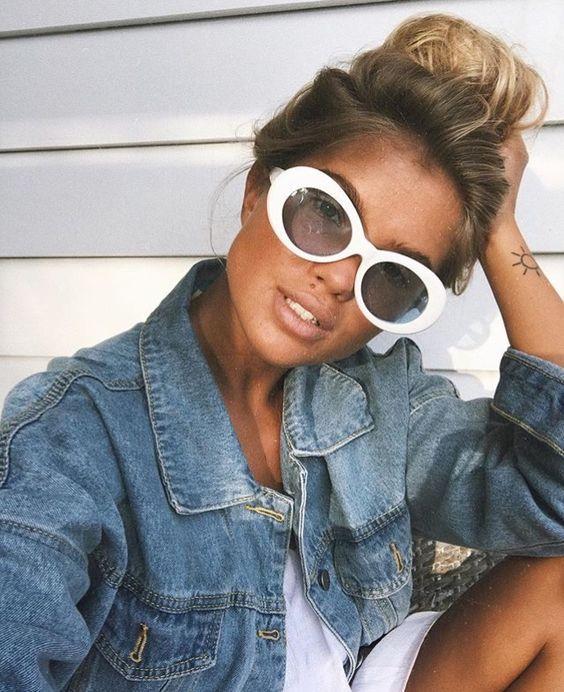 6c5d81942 OVAL SUNNIES: 9 looks com óculos oval pra ficar bem no verão em 2019   ❤ '  ρɾєттуgιɾℓ ♥   Fashion, Fashion dresses e Oval sunglasses