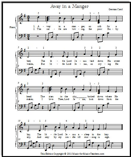 """Away In A Manger Song 