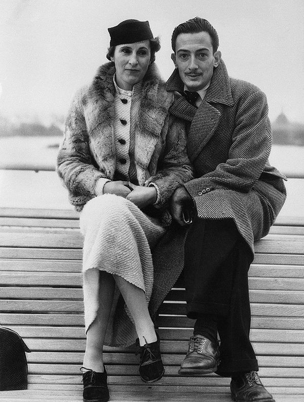 Mr. and Mrs. Salvador Dali, seen on the S.S. Champlain on