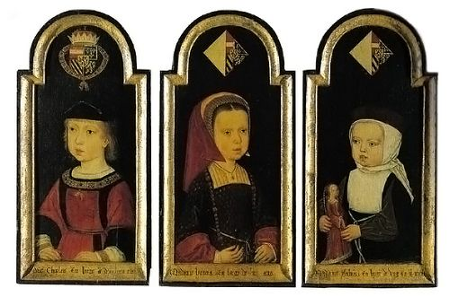 Charles, Isabella, and Eleanor, children of Juana of Castile, nephew and nieces of Catherine of Aragon by lisby1, via FlickrCastile, Isabella, Court Portraits, Aragon, Charles, Catherine Zeta-Jon, Holy Romans, Romans Emperor, Medieval Children