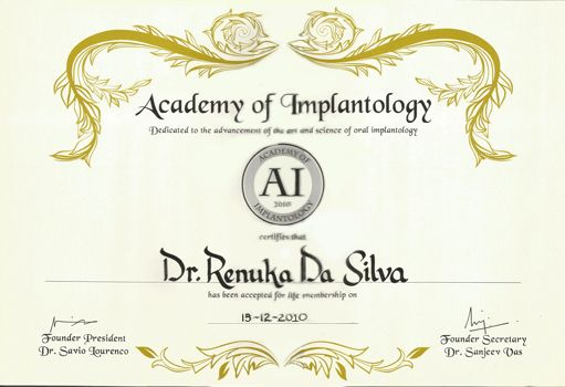 Academy Of Implantology Dr Renuka