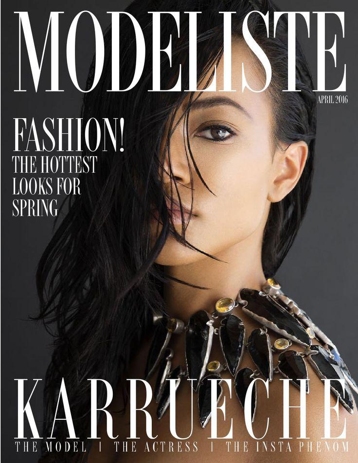 Modeliste April 2016  Modeliste magazine with Cover Girl, Karrueche Tran.