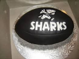kids party sharks rugby cakes - Google Search
