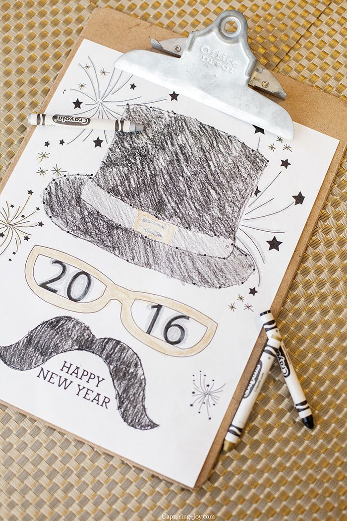 34 best Holiday--New Yearu0027s Eve images on Pinterest Free - copy new years eve coloring pages printable