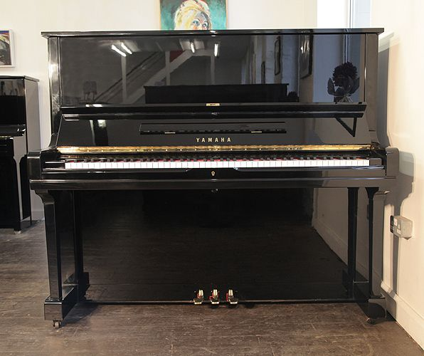 A 1978, Yamaha U3 upright piano with a black case and polyester finish at Besbrode Pianos. Piano has three pedals and an eighty-eight note keyboard. This Yamaha is in our summer sale WAS: £3950 NOW: £3555