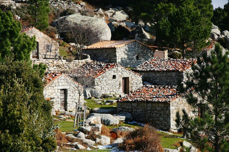 Stone cottages in Sartenais on Corsica