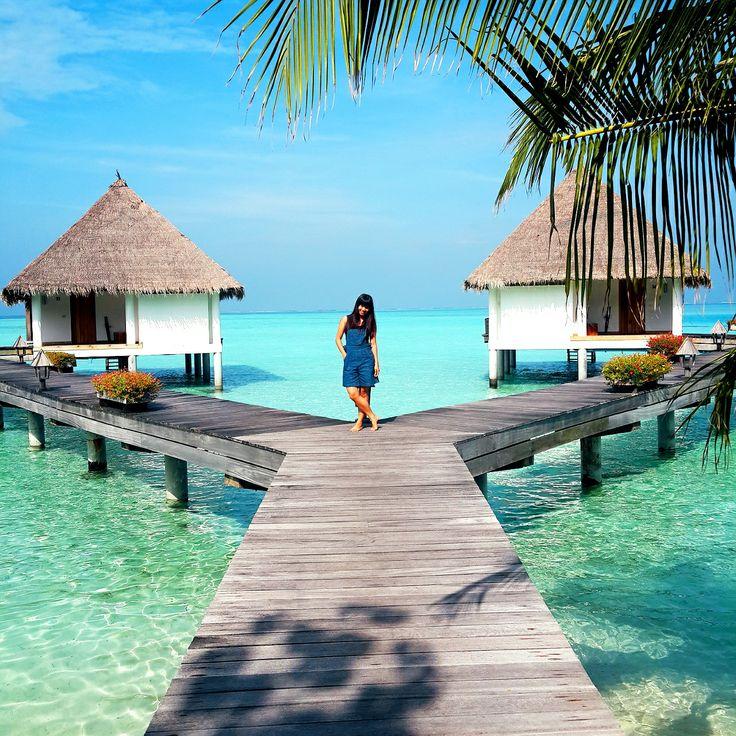 denim dungaree in Maldives #ootd #maldives #travel