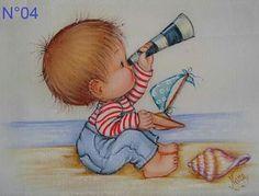 Bebe na praia